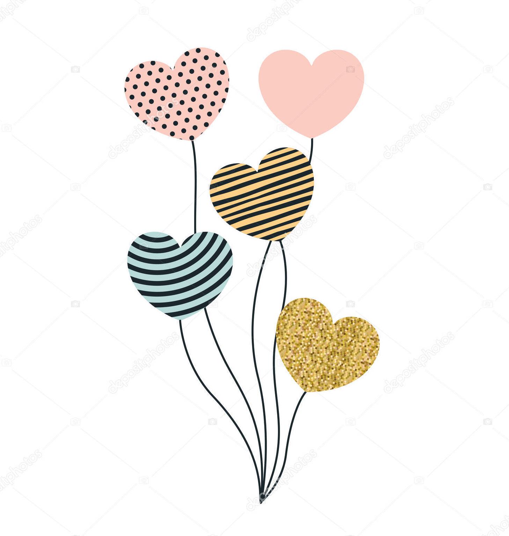 bouquet de ballons en coeur